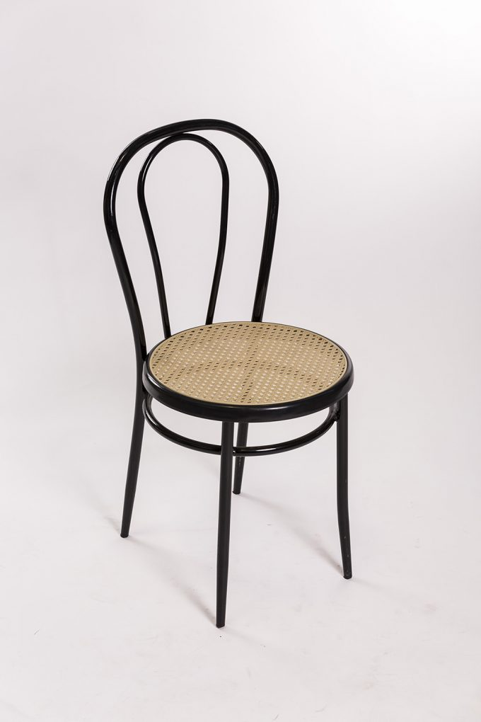 Tonetová stolička, čierna