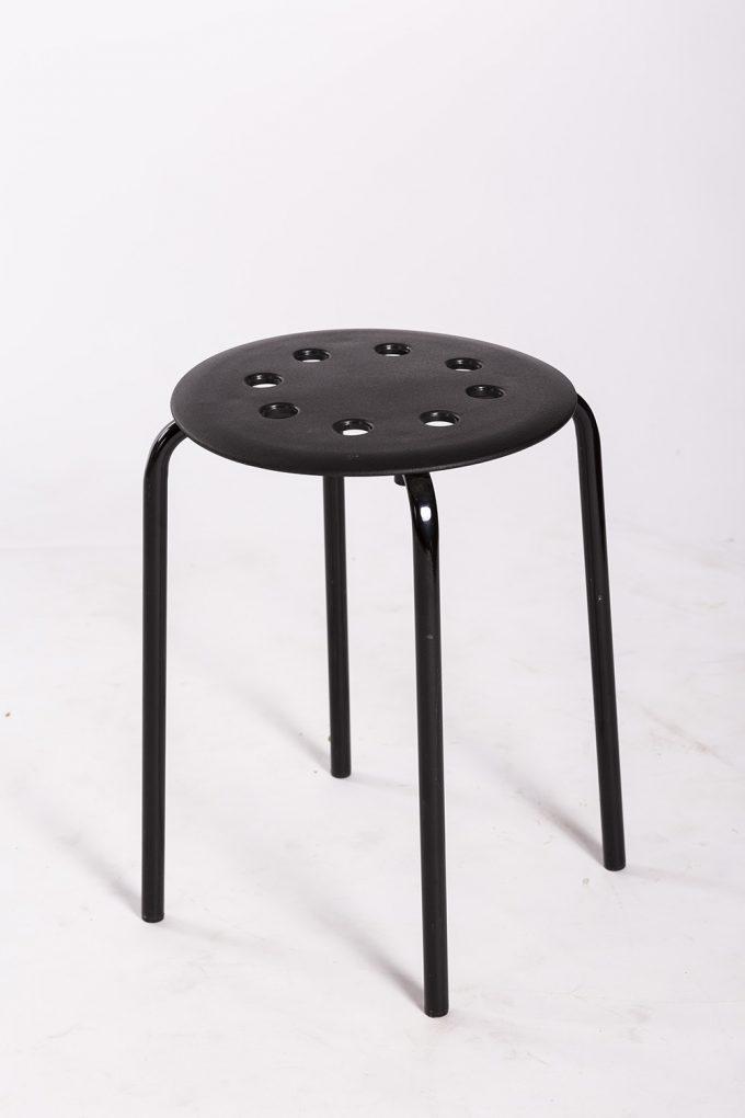 Stolička, čierna nízka