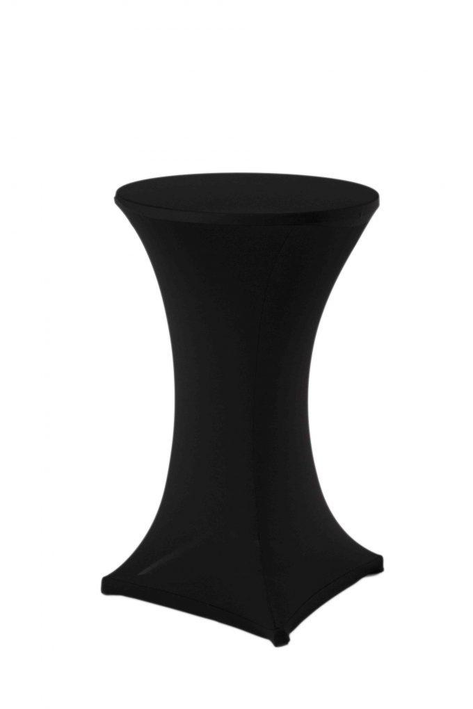 Stand by stôl s čiernym strečovým návlekom