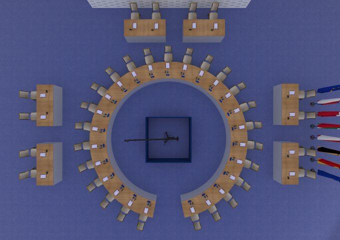 Konferenčné sedenie ŽENEVA pre 25 osôb
