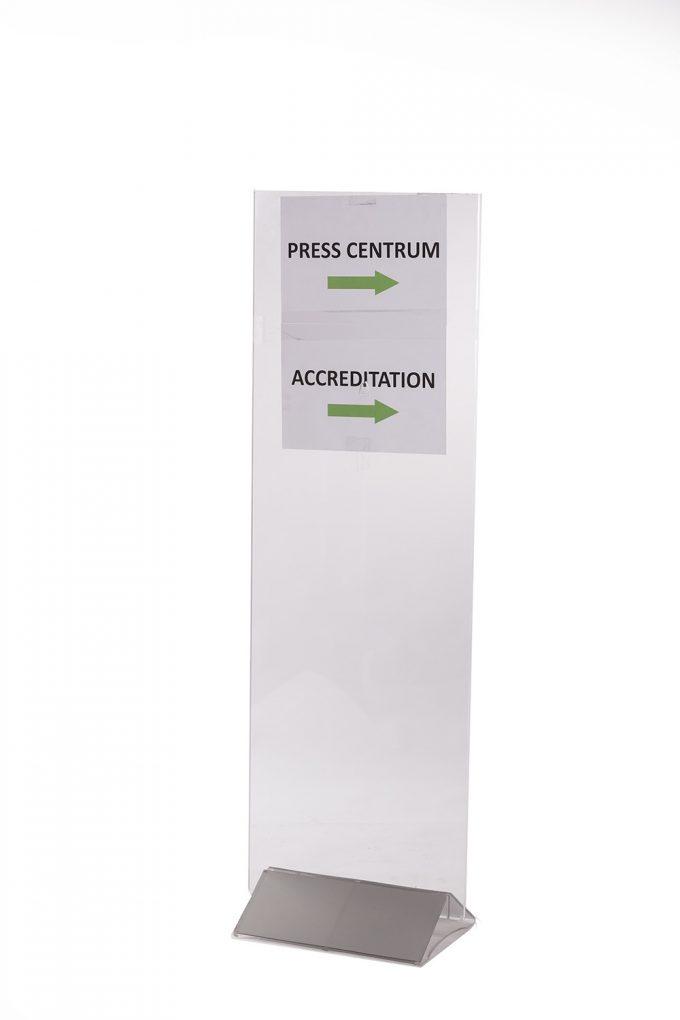 Informačný stojan, akrylátový, vysoký II