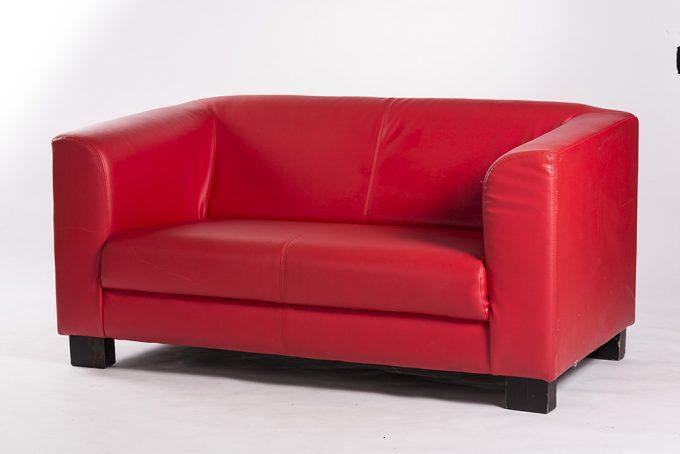 Kožená sofa, červená