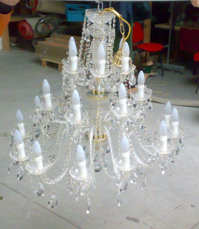 Kryštálový luster 1 x 1 m