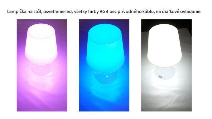 Lampička na stôl, LED RGB