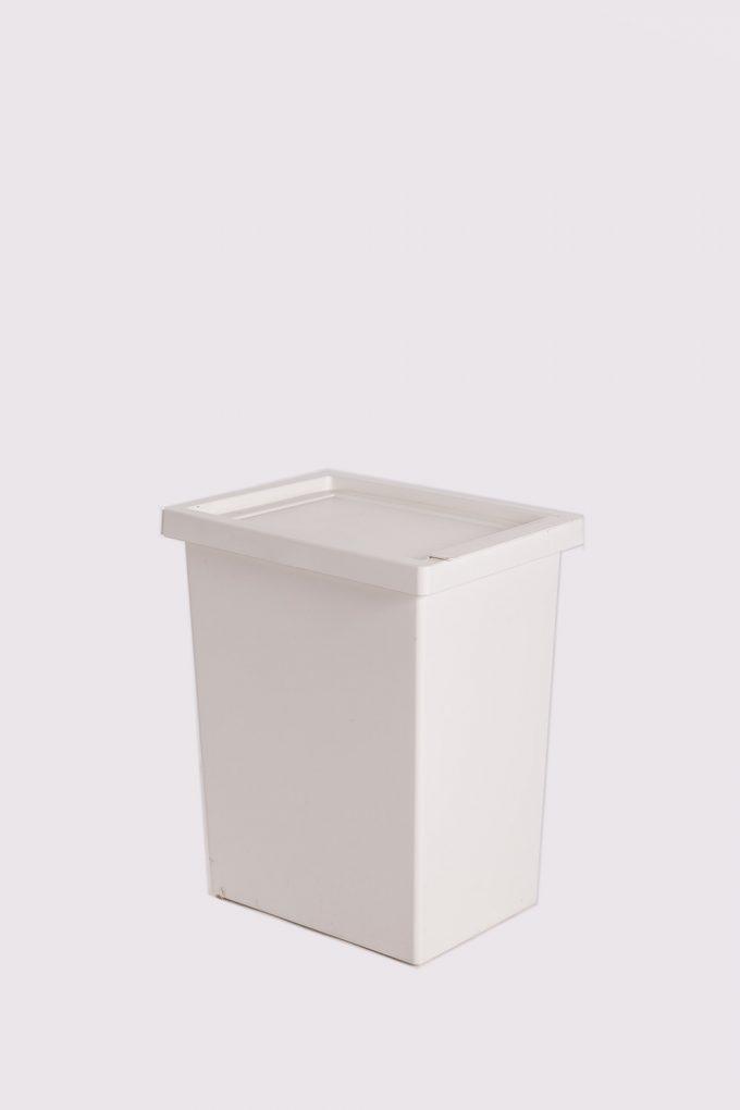 Odpadkový kôš, biely