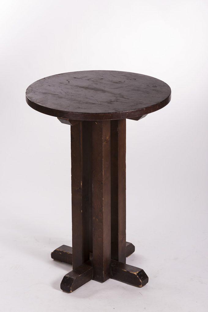 Stand by stôl, drevený kruhový