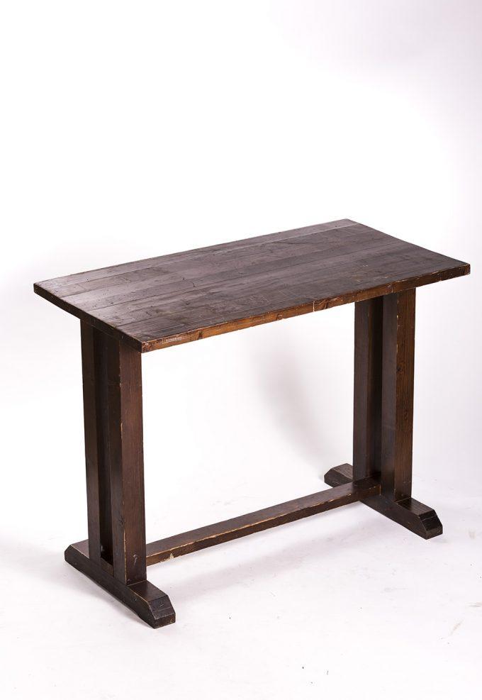 Stand by stôl, drevený obdlžníkový