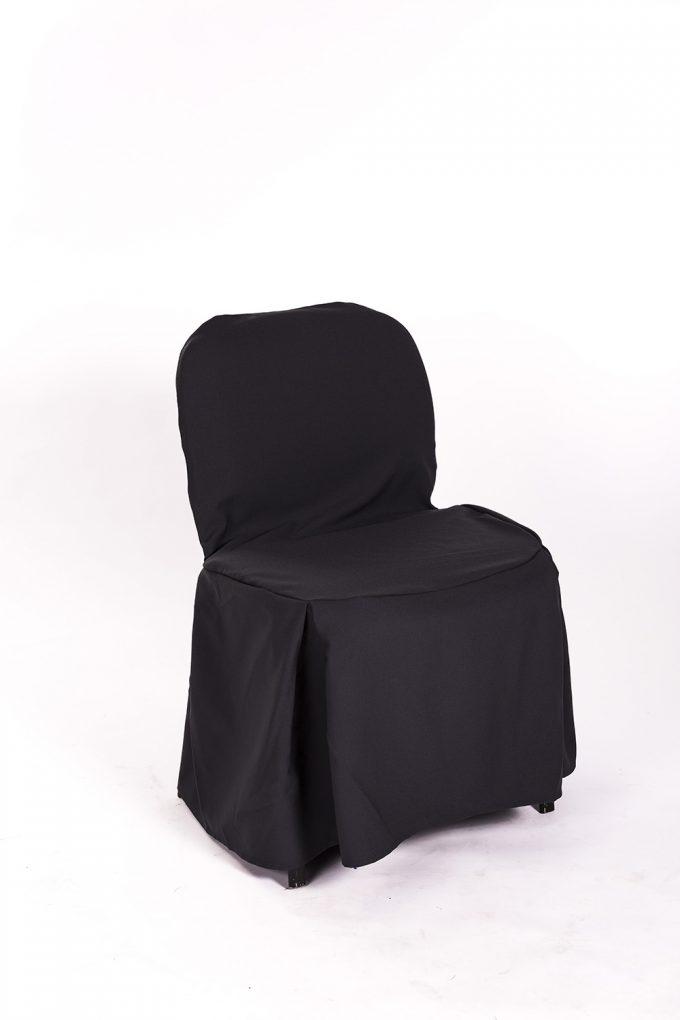 Stolička s čiernym návlekom