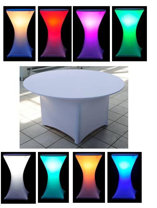 Kruhový stôl, svietiaci RGB pre 4-8 osoby