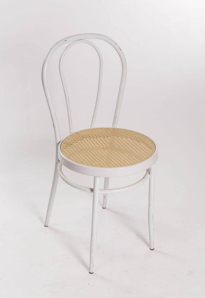 Tonetová stolička, biela