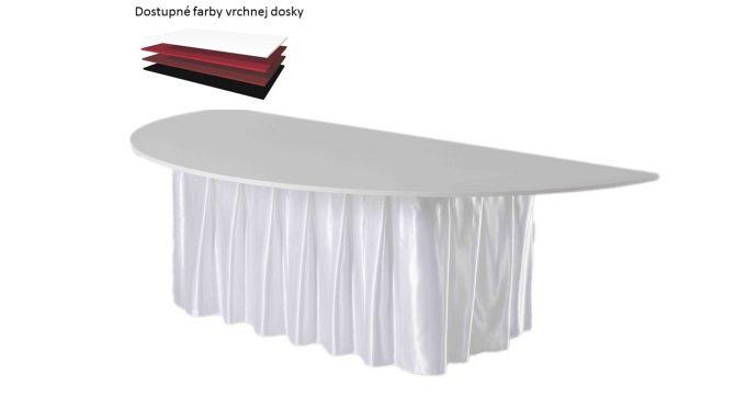 Polkruhový stôl, priemer 130 cm