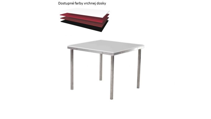 Štvorcový stôl, rozmer 90 x 90 cm