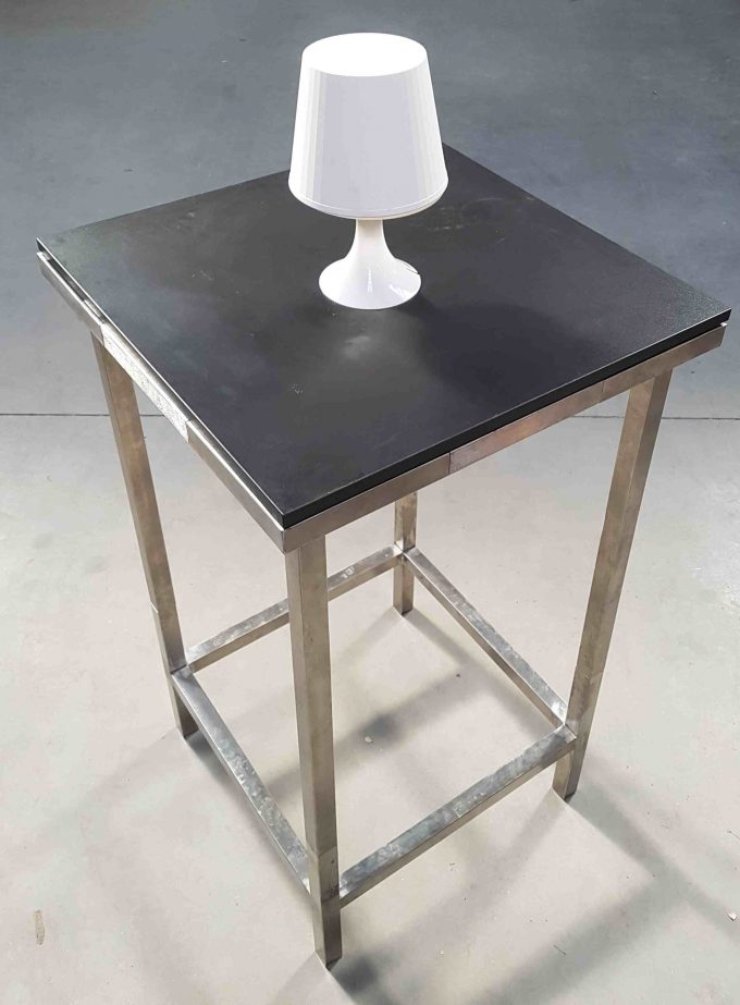 Stand by stôl, čierny, rozmer 65 x 65 cm