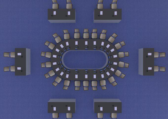 Konferenčné sedenie ŽENEVA pre 22 osôb