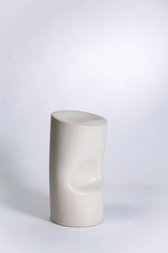 Barová stolička, biely tubus