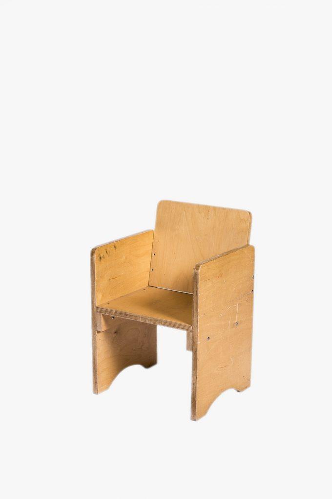 Detská stolička, malá drevená