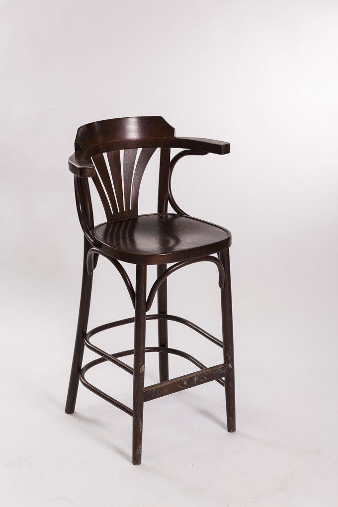Barová stolička, drevená