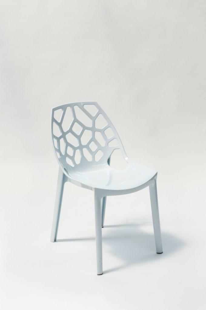 Kaviarenská stolička, biela SPIDER