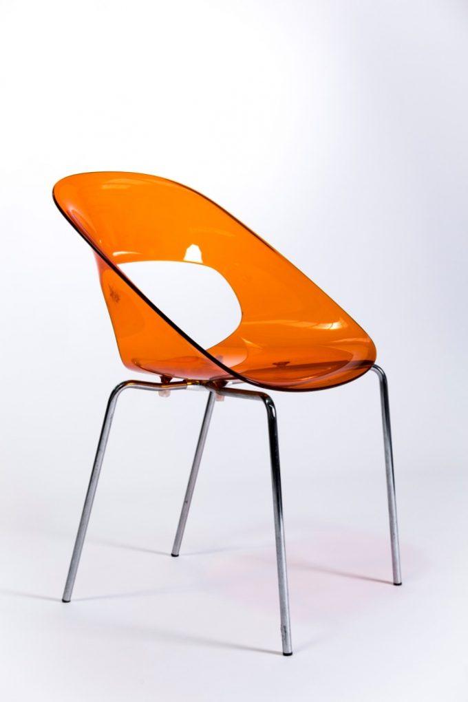 Kaviarenská stolička, orange