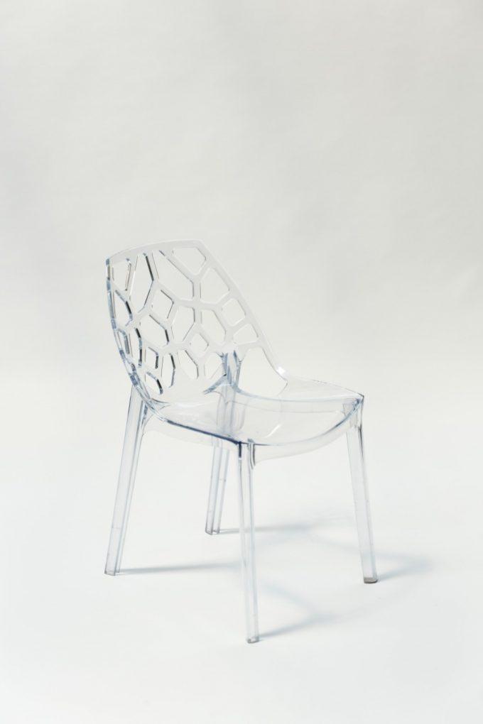 Kaviarenská stolička, priesvitná SPIDER