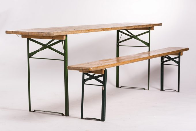 Pivný set, 1x stôl a 2x lavica