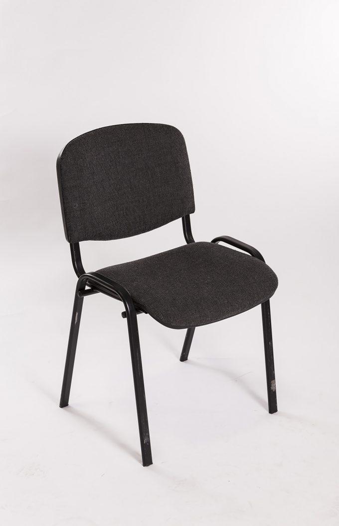 Stolička, čalúnená, čierna