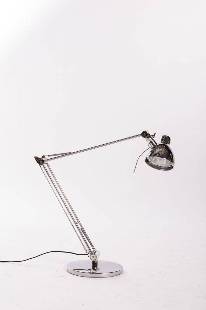Stojanová lampa, strieborná