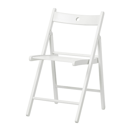Stolička, biela, skladacia